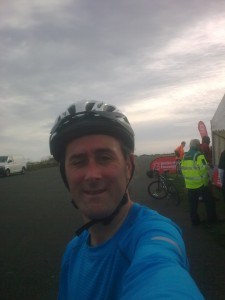 Finish line. BHF Bike Ride 2014