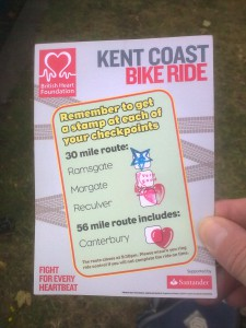 Bike ride stamp. BHF 2014