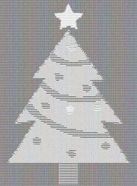 Christmas Tree ASCII Art