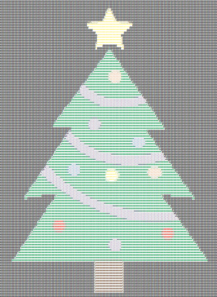Christmas Tree ASCII Art 2