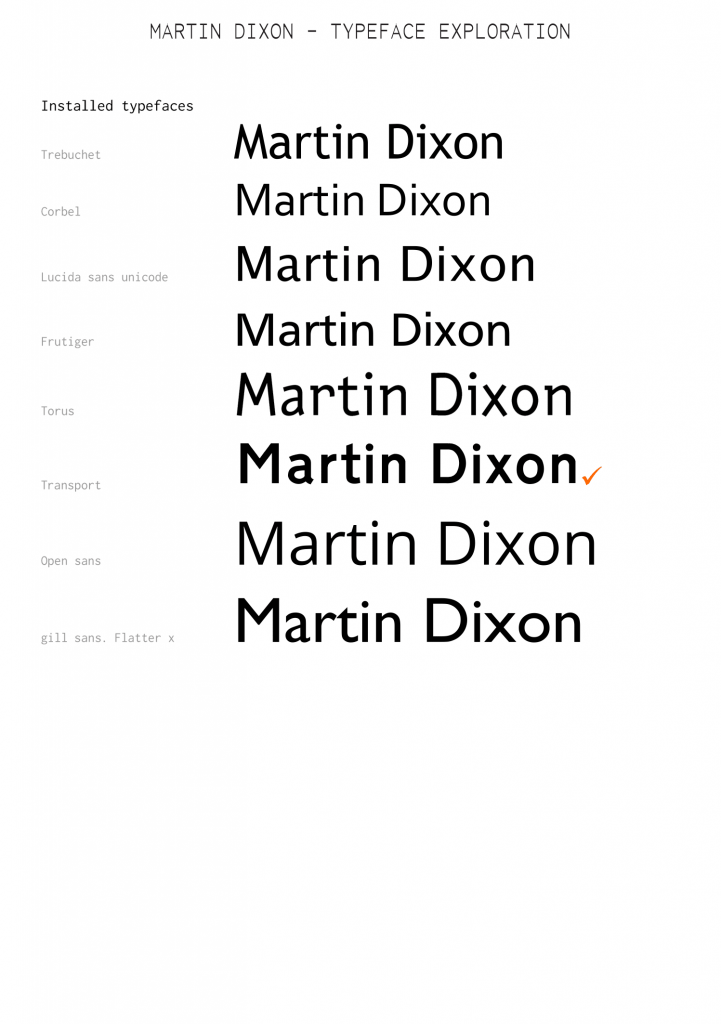 pic showing selected installed typefaces